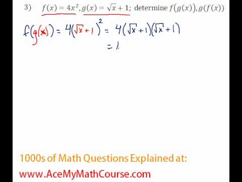Functions - Function Composition Question #3