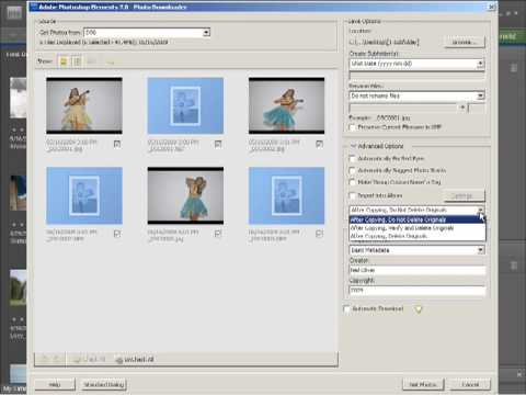 Photoshop Elements 7 Tutorial Video - Importing Photos from Camera