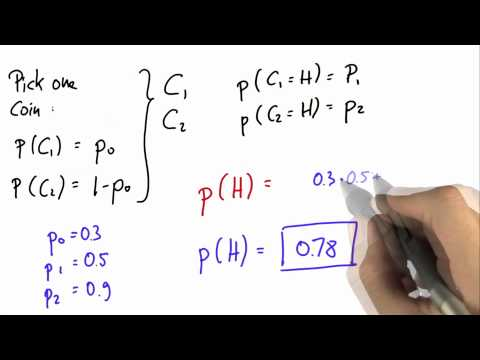Flip One of Two Solution - Intro to Statistics - Programming Bayes Rule - Udacity