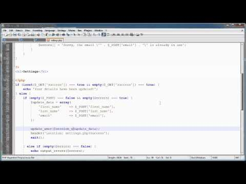 PHP Tutorials: Register & Login (Part 19): Forgotten Password (Part 2)