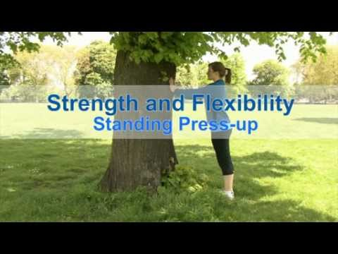 NHS Strength and flexibility: standing press-up