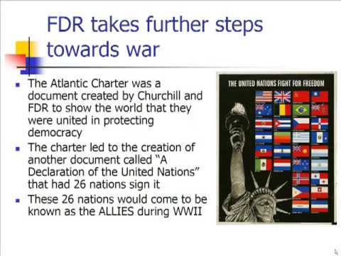 Schmidt Notes - US History - Unit 6 - America Moves Towards War (Chapter 16.4)