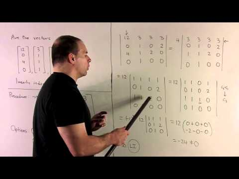 Example of Linear Independence Using Determinant