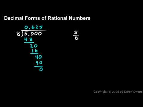 Algebra 1  11.2a - Decimal Forms of Rational Numbers