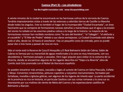 Spanish English Parallel Texts Cuenca (Part 3) Los alrededores
