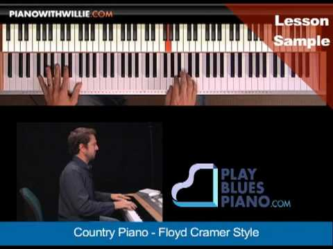 PianoWithWillie.com-ex2-Country Piano Floyd Cramer Style (CRAMER)