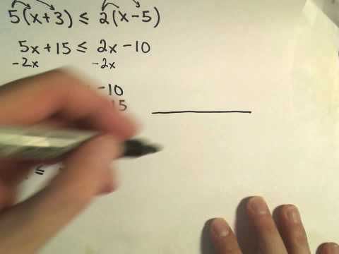 An Introduction To Solving Linear Inequalities - Example 2