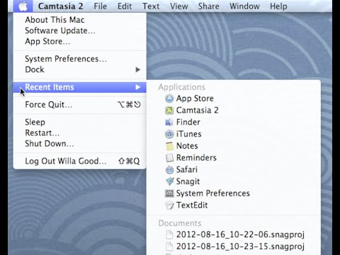 Mac OS X Mountain Lion: Desktop Basics