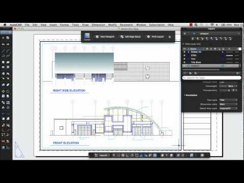 Print a Drawing Layout: AutoCAD 2013 for Mac
