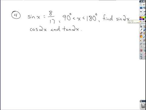 Trigonometry - Review of Addition, Subtraction and Double Angle Formulas