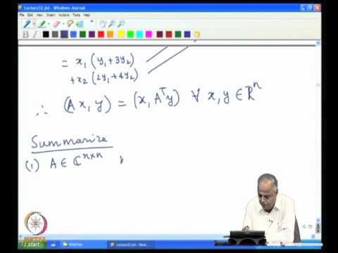 Mod-09 Lec-32 Hermitian and Symmetric matrices Part 1