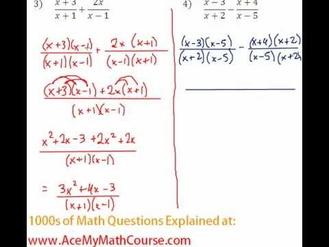 Rationals - Adding Rational Expressions Question #4