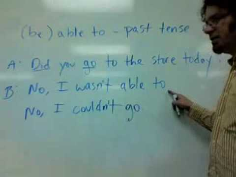 (be) able to -- past tense