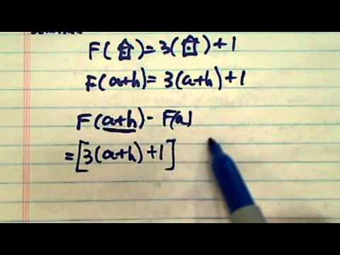 Evaluate the function given F(x) = 3x + 1 solve:F(a + h ) - F(a) =?