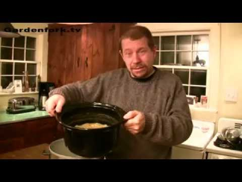 Eric's Crock Pot Pea Soup Recipe slow cooker GardenFork.TV