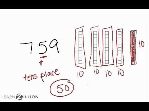 Find place value using pictures - 4.NBT.2