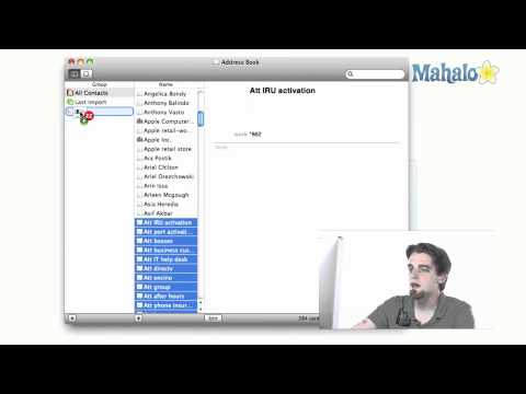 Address Book - Creating a Group - How to use Mac OS X Snow Leopard