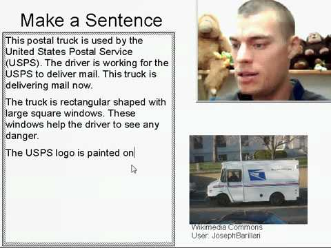 Learn English Make a Sentence and Pronunciation Lesson 26: Postal Truck