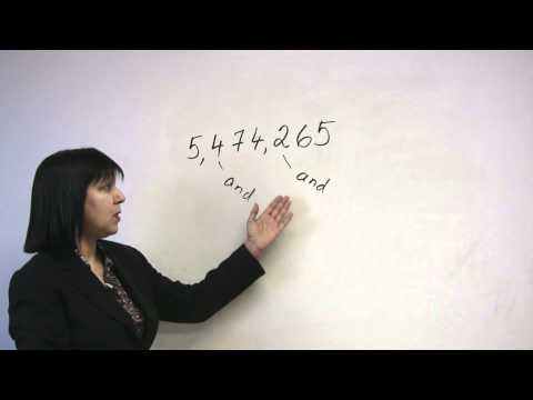 Speaking English - Saying Numbers