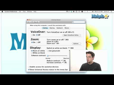 Using a Mac - Hearing/Visually Impaired