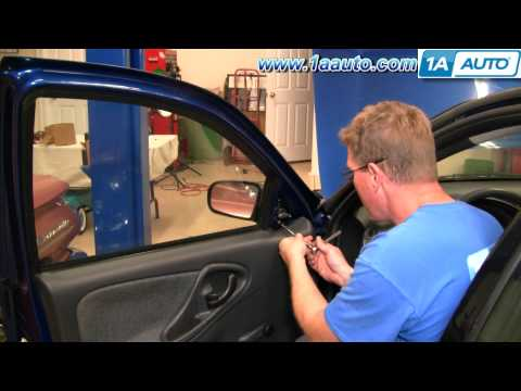 How To Install Replace Manual Side Rear View Mirror Chevy Cavalier 95-05 1AAuto.com