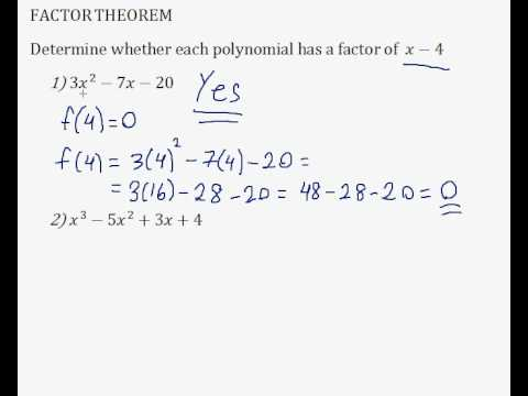 Factor Theorem Question