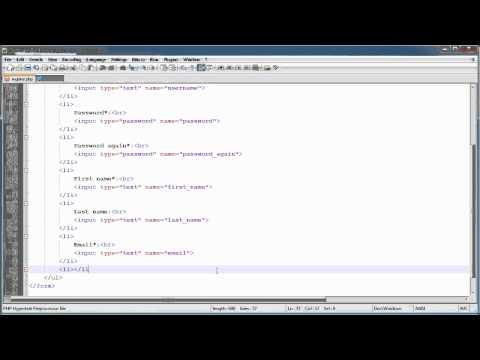 PHP Tutorials: Register & Login (Part 10): Registration Form and Validation (Part 1)