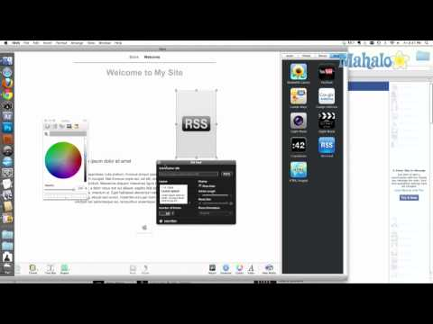 iWeb Tutorial How to Add an RSS Feed