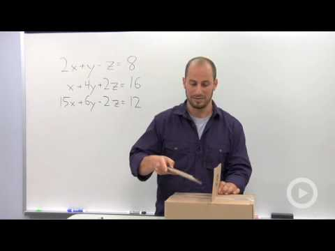 Algebra 2 - Solving a Linear System in Three Variables with a Solution