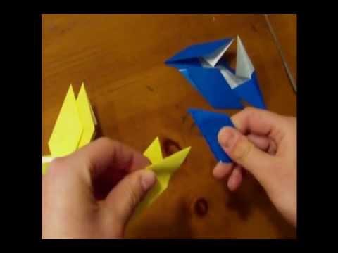 Modular Origami:  Origami Star Ring (8 units)
