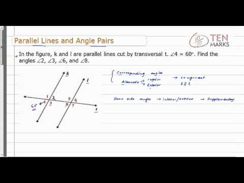 Parallel Lines and Angle Pairs