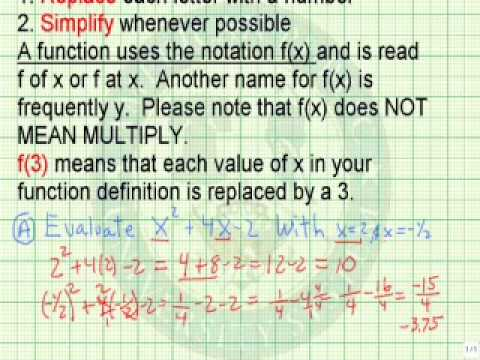 Evaluate Expressions and Functions