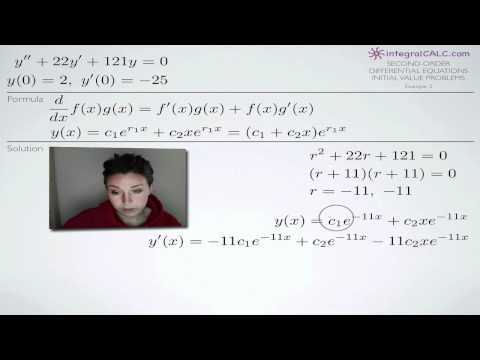 Second-Order Differential Equations Initial Value Problems Example 3