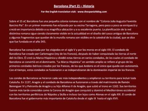 Spanish English Parallel Texts Barcelona (Part 2) Historia