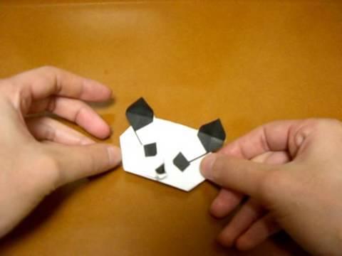 origami panda (head)