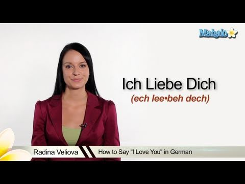 "How to Say ""I Love You"" in German"