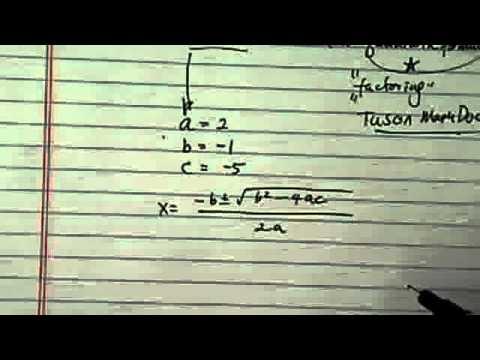 *Solve Quadratic Equation: using Quadratic Formula