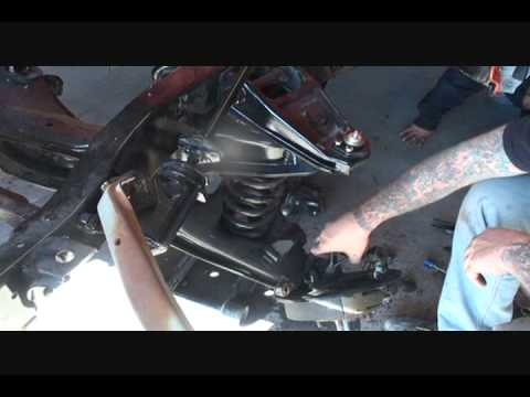 Classic Truck Restoration-Front Suspension Rebuild-How To Repalce Worn Ball Joints-Part 3