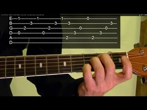 GOING TO CALIFORNIA ( Guitar Lesson ) by LED ZEPPELIN, WITH TABS