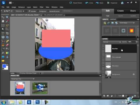 Using Layers in Photoshop Elements 10 - Part 1