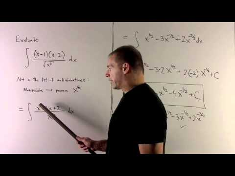 Antiderivative of (x-1)(x-2)/sqrt(x^3)