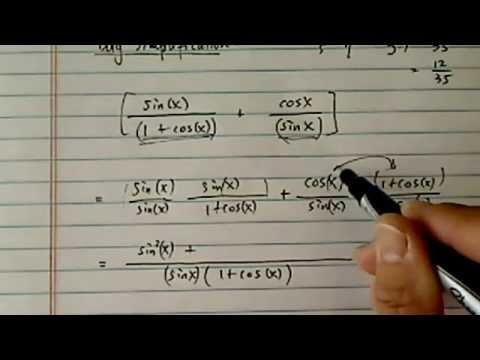 Simplify Trig Expressions: Sin(x)/(1+ Cos(x)) + Cos(x)/Sin(x)