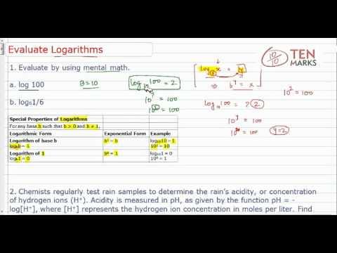 Evaluate Logarithms