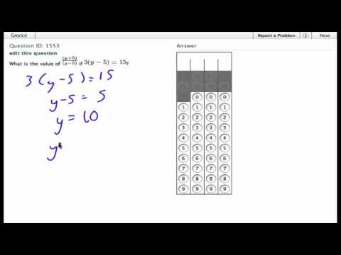 Grockit SAT Math - Student Produced Response: Question 1553