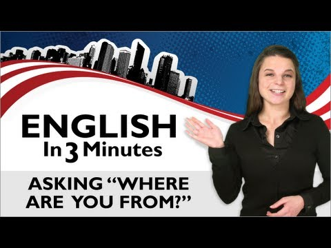 Learn English - Asking 'Where are you from?'