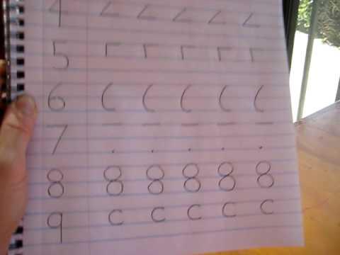 Preschool - Math. writing numbers