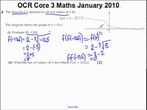 Q4(i)(ii) Core 3 OCR Maths January 2010.mp4