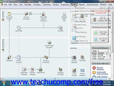 QuickBooks 2011 Tutorial Entering Charges on Credit Cards Intuit Training Lesson 21.2