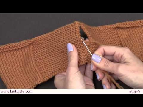 How to Seam on Garter Stitch