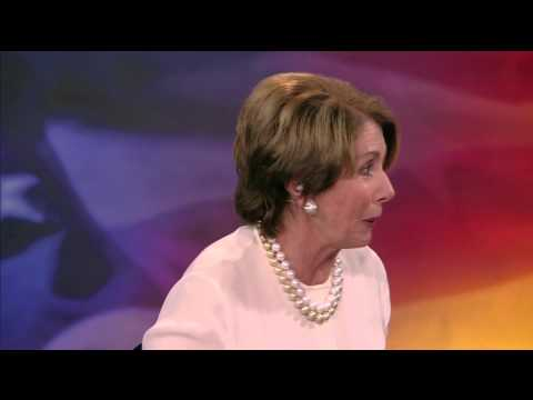 House Minority Leader Nancy Pelosi Stops by NewsHour Skybox